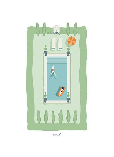 art prints - Très Chic Oasis by Trish Ward