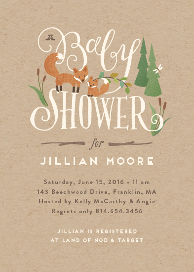 baby shower invitations - Fox Hollow by Jennifer Wick