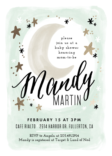 baby shower invitations - Moonlit by Alethea and Ruth