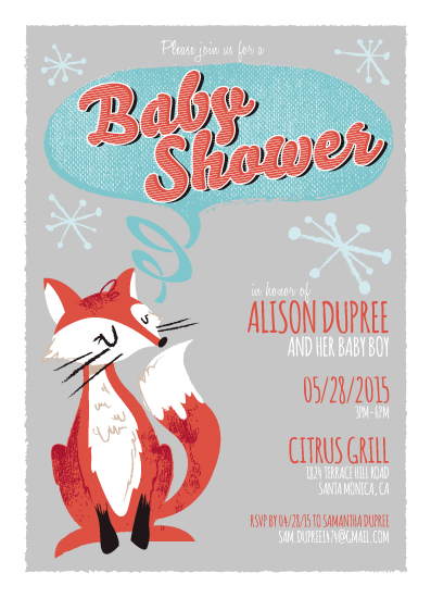baby shower invitations - Foxy Mama-To-Be by Maren Kelly