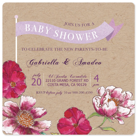 baby shower invitations - Spring Time by eb