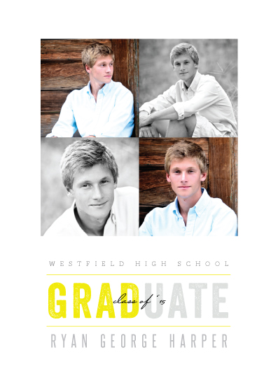 graduation announcements - 4 Squares and a Grad by fatfatin