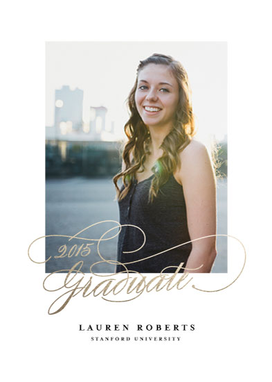 graduation announcements - Poetic by Fine and Dandy Paperie