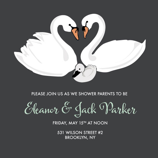 baby shower invitations - Swan Two Three by Darcy Terry