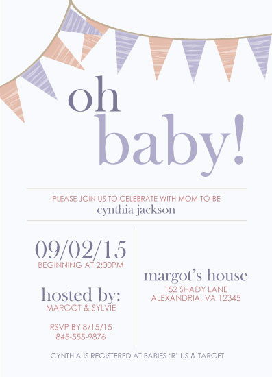 baby shower invitations - Oh, Baby Banner by Chelsea Simmons