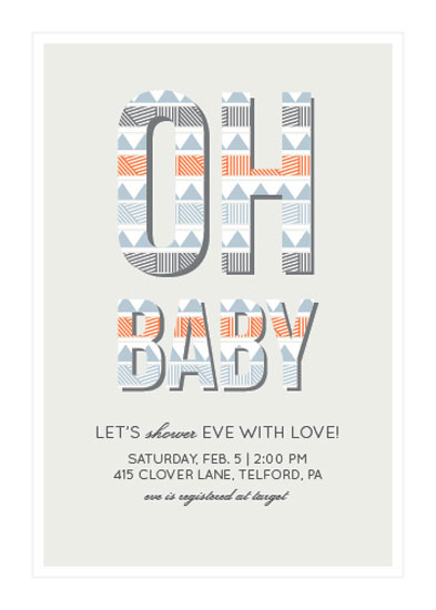 baby shower invitations - Shower Her With Love by Hannah Hochstetler