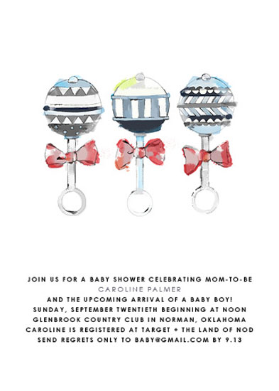 baby shower invitations - Painted Toys by Kristine Sarley