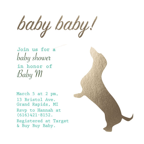 baby shower invitations - Baby Baby! by Hannah Fintelman