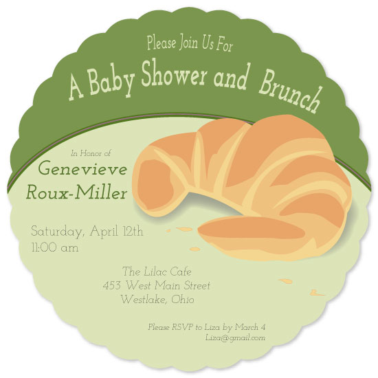 baby shower invitations - Brunch Baby by Leah Mowry