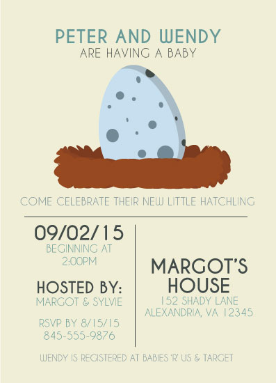 baby shower invitations - Little Hatchling by Chelsea Simmons