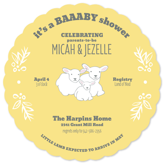 baby shower invitations - Little Lamb by Red Impressionz