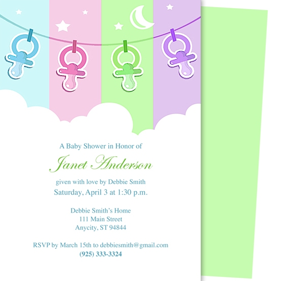 baby shower invitations - Comfort Baby Shower Template by Adam Smith