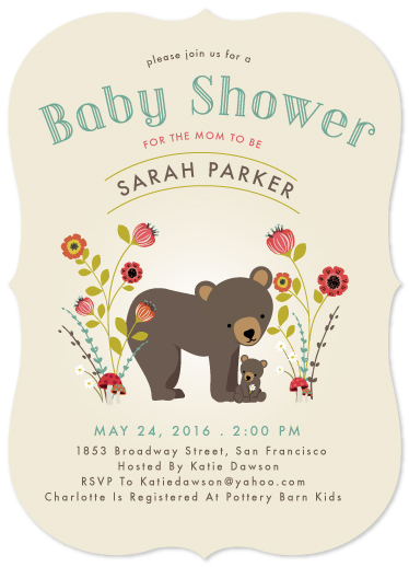baby shower invitations mommy baby bear by susan moyal