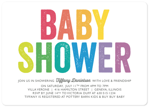 baby shower invitations - Colorful, Big and Bold by Melissa Casey