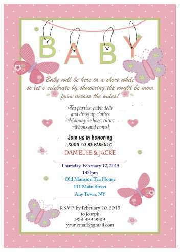 baby shower invitations - Invitation to bless would be Parents by Nitika Trichal