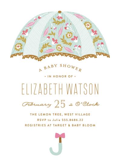 baby shower invitations - Beautiful Umbrella by Phrosne Ras
