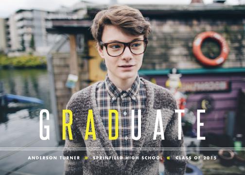 graduation announcements - Rad Grad by Lauren Chism