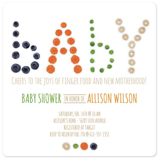 baby shower invitations - Finger Food by Alisha Zavadil