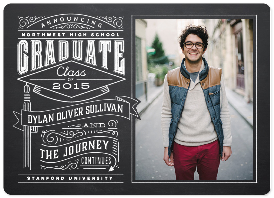 graduation announcements - Past and Future by Laura Bolter Design