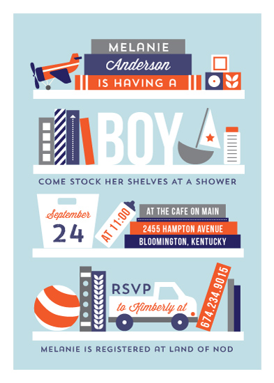 baby shower invitations - Stock the shelves by JeAnna Casper
