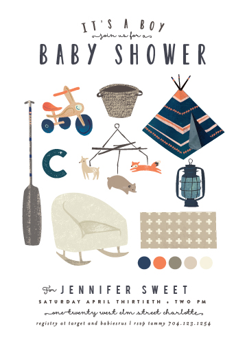 baby shower invitations - Baby Boy Moodboard by Lori Wemple