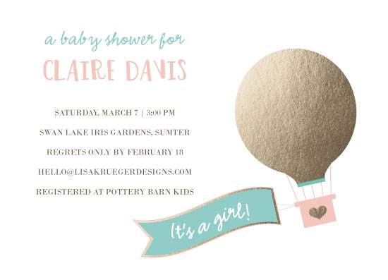 Baby shower invitations hot air balloon at minted baby shower invitations hot air balloon by lisa krueger filmwisefo Image collections