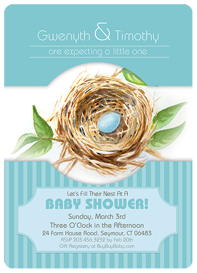 baby shower invitations - Nesting by Karen Ciocca