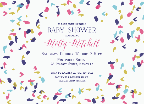 baby shower invitations - Confetti by Ella Weaver