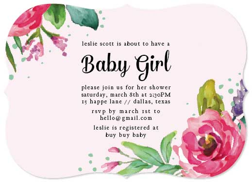 baby shower invitations - Blush Baby by Ally MacWilliams