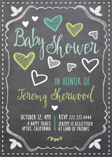 baby shower invitations - Hearts Shower by Alex Colombo