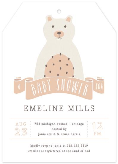 baby shower invitations - Little Bear by Lehan Veenker