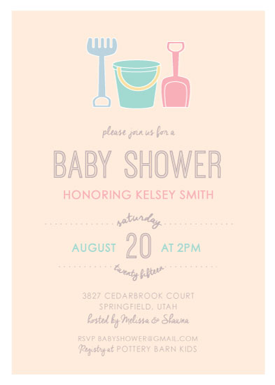 Baby Shower Invitations   Beach Baby Party By Korry Brown