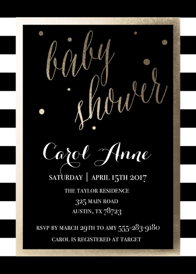 baby shower invitations - Foil Modern Chic by Sweet Water Decor