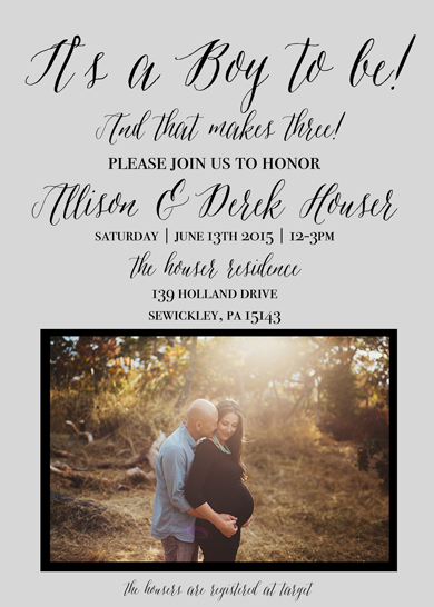 baby shower invitations - It's A Boy To Be... And That Makes Three by Sweet Water Decor