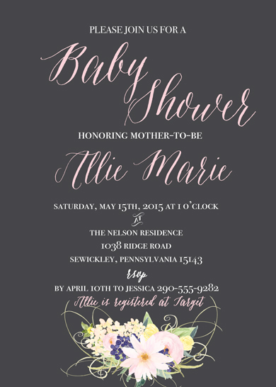 baby shower invitations - Little Flower Girl by Sweet Water Decor