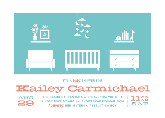 baby shower invitations - mod baby digs by Guess What Design Studio