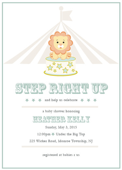 baby shower invitations - Step right up by Paper Rose Invitations