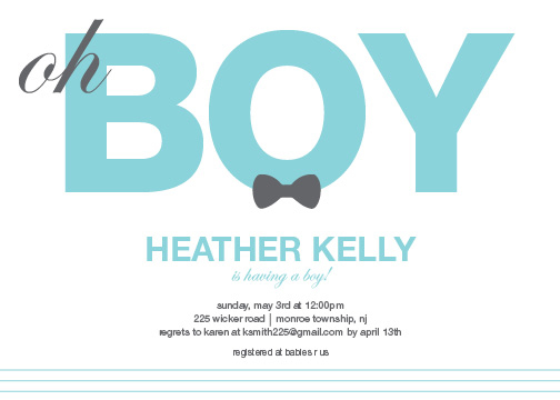 baby shower invitations - Baby boy by Paper Rose Invitations