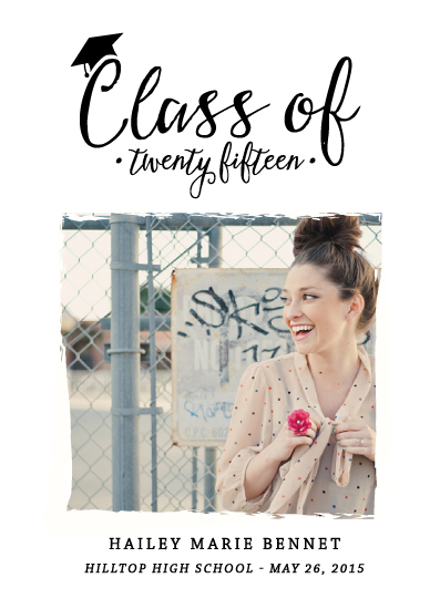 graduation announcements - Classy Class of by Kaydi Bishop