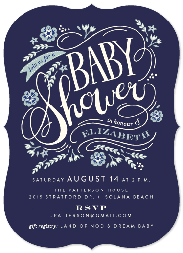 baby shower invitations - Esprit by Griffinbell Paper Co.