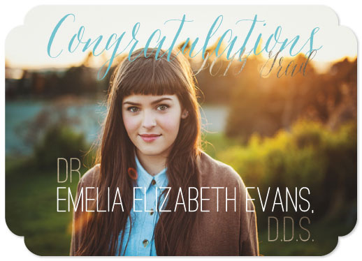 graduation announcements - Golden DDS by Belle Bourgeois