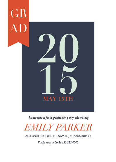 graduation announcements - TypeGrid Party by Nazia Hyder