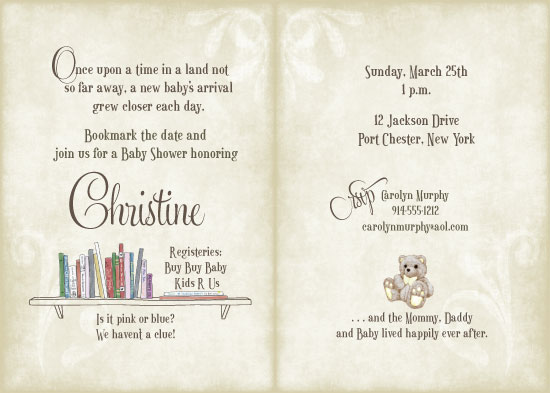 Baby Shower Invitations   Once Upon A Time By Diane Longo
