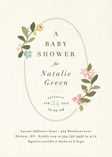 baby shower invitations - Novel tradition by Jennifer Wick
