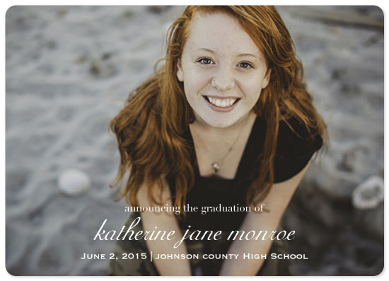 graduation announcements - Simple and Elegant by Sue Minor