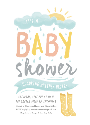 baby shower invitations - Wellies by Carolyn MacLaren
