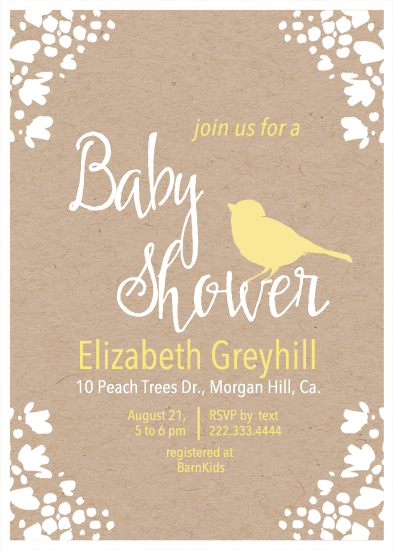 baby shower invitations - Yellow by Alex Colombo