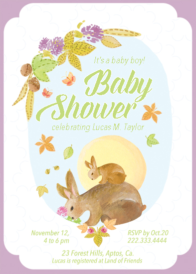 baby shower invitations - Little Bunny by Alex Colombo