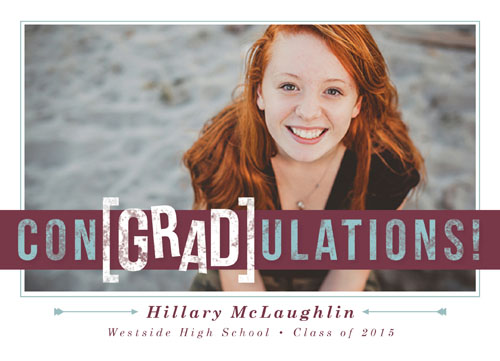 graduation announcements - con[GRAD]ulations by Peppermill Creative