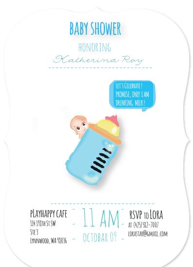baby shower invitations - Milky Way by Maja Skenderovic